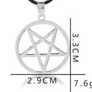 NEW Upside Down Pentagram Star Pendant Necklace